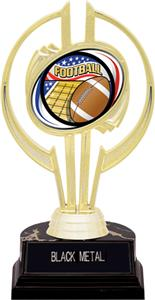 "Awards Gold Hurricane 7"" Americana Football Trophy"