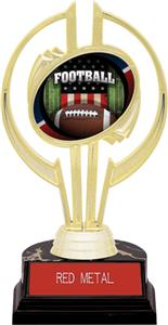 "Awards Gold Hurricane 7"" Patriot Football Trophy"