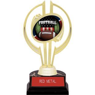"Awards Gold Hurricane 7"" Patriot Football Trophy"