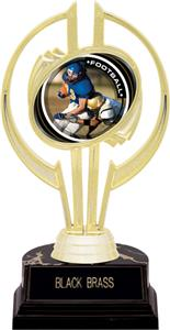 "Awards Gold Hurricane 7"" P.R.2 Football Trophy"