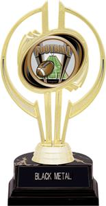 "Awards Gold Hurricane 7"" ProSport Football Trophy"