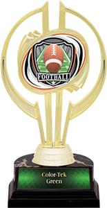 "Awards Gold Hurricane 7"" Shield Football Trophy"