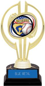 "Awards Gold Hurricane 7"" Americana Baseball Trophy"