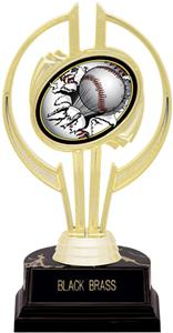 "Awards Gold Hurricane 7"" Bust-Out Baseball Trophy"