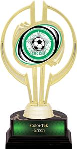 "Awards Gold Hurricane 7"" All-Star Soccer Trophy"