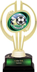 "Hasty Awards Gold Hurricane 7"" HD Soccer Trophy"