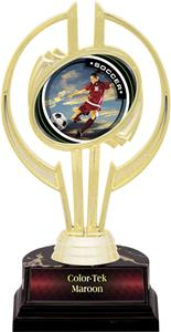 "Awards Gold Hurricane 7"" P.R. Female Soccer Trophy"