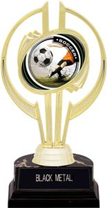 "Awards Gold Hurricane 7"" P.R. Male Soccer Trophy"