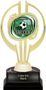 "Awards Gold Hurricane 7"" Shield Soccer Trophy"