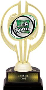 "Awards Gold Hurricane 7"" Xtreme Soccer Trophy"