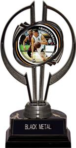 "Black Hurricane 7"" P.R. Male Basketball Trophy"