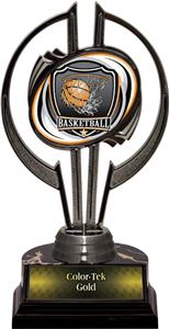 "Black Hurricane 7"" Shield Basketball Trophy"