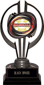 """Black Hurricane 7"""" Classic Baseball Trophy Plate"""