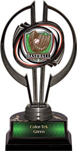 "Black Hurricane 7"" Shield Baseball Trophy"