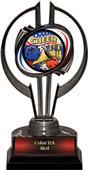 """Black Hurricane 7"""" Americana Cheer Trophy"""