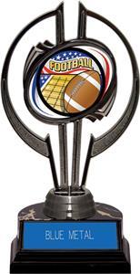"""Black Hurricane 7"""" Americana Football Trophy"""