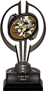 """Black Hurricane 7"""" Bust-Out Football Trophy"""