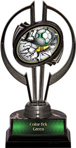 "Awards Black Hurricane 7"" Bust-Out Soccer Trophy"