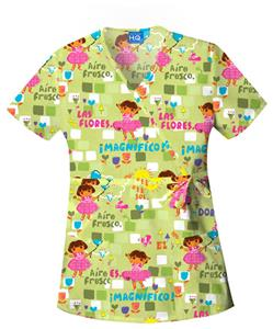 Cherokee Scrub HQ Womens Mock Wrap Scrub Top