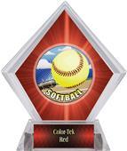 Awards HD Softball Red Diamond Ice Trophy