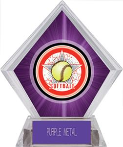Awards All-Star Softball Purple Diamond Ice Trophy