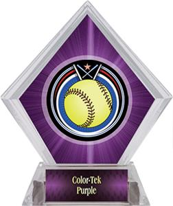 Awards Eclipse Softball Purple Diamond Ice Trophy