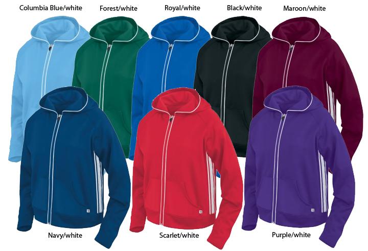 E6876 Womens Girls Fiora Warm-Up Jackets Closeout