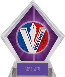 Spirit Victory Softball Purple Diamond Ice Trophy