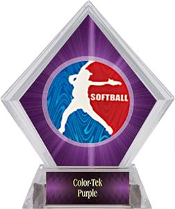 Awards Spirit Softball Purple Diamond Ice Trophy