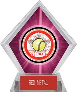 Awards All-Star Softball Pink Diamond Ice Trophy