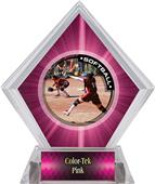Awards P.R.1 Softball Pink Diamond Ice Trophy