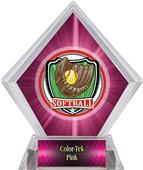 Awards Shield Softball Pink Diamond Ice Trophy