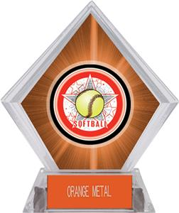 Awards All-Star Softball Orange Diamond Ice Trophy