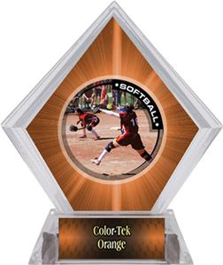 Awards P.R.1 Softball Orange Diamond Ice Trophy