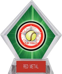 Awards All-Star Softball Green Diamond Ice Trophy