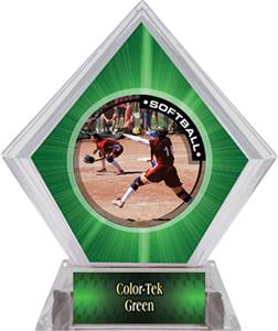 Awards P.R.1 Softball Green Diamond Ice Trophy