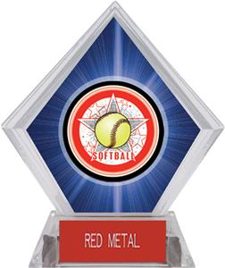 Awards All-Star Softball Blue Diamond Ice Trophy