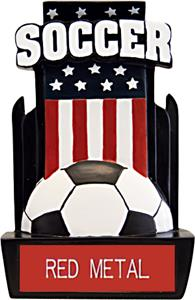 "Hasty Awards 6"" Patriot Soccer Resin Trophies"