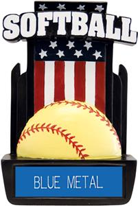 "Hasty Awards 6"" Patriot Softball Resin Trophies"