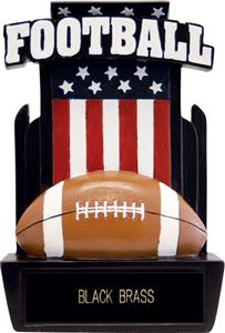 "Hasty Awards 6"" Patriot Football Resin Awards"
