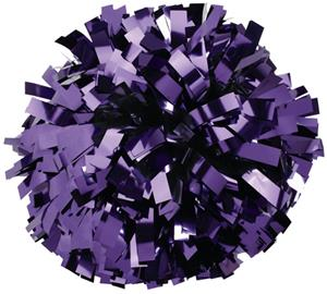 Pizzazz 1 Color Metallic Cheerleaders Poms