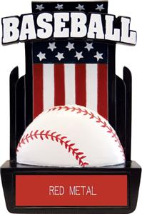 "Hasty Awards 6"" Patriot Baseball Resin Trophies"