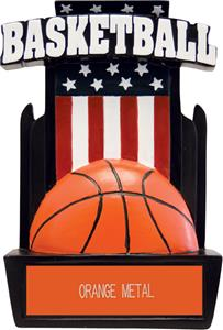 "Hasty Awards 6"" Patriot Basketball Resin Trophies"