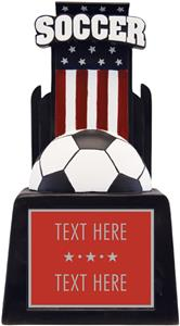 "Hasty Awards 13"" & 15"" Patriot Soccer Team Trophy"
