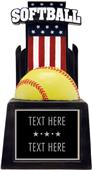 "Hasty Award 13"" & 15"" Patriot Softball Resin"