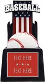 "Hasty Award 13"" & 15"" Patriot Baseball Resin Award"