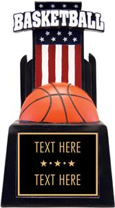 "Hasty Awards 13"" & 15"" Patriot Basketball Resin"
