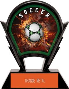 "Hasty Awards 6"" Stealth Soccer Resin Awards"