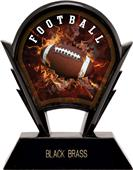 "Hasty Awards 6"" Stealth Football Resin Trophies"