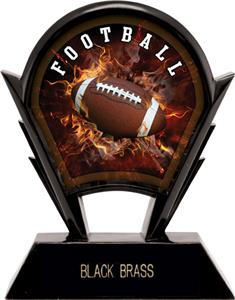 "Hasty Awards 6"" Stealth Football Resin Awards"